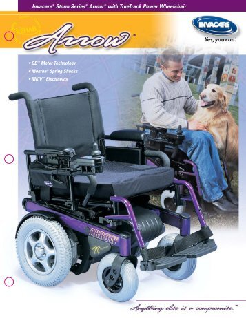 Invacare® Storm Series® Arrow® with TrueTrack Power Wheelchair