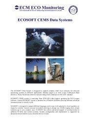 ECOSOFT CEMS Data Systems - ECM ECO Monitoring