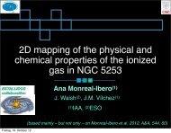 Ana Monreal-Ibero(1) - The low-metallicity ISM