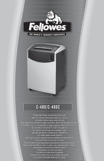 C-480 Manual - Fellowes