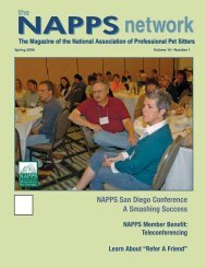 Spring 2006 - National Association of Professional Pet Sitters