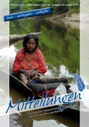 November 2010 - Freundeskreis Indianerhilfe eV