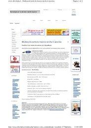 Mediacom porta la musica anche in piscina 21/05/2009 - Wellcome