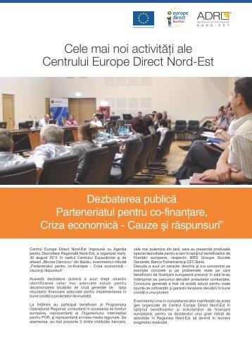 insert Europe Direct - Agentia pentru Dezvoltare Regionala Nord-Est