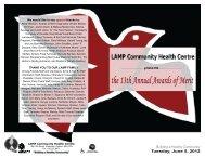 Awards of Merit PROGRAMME 2012 - LAMP CHC!