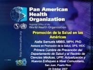 Promoción de la Salud en las Américas - Departamento de Salud