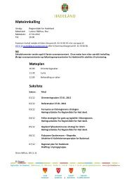 Innkalling og saksliste Regionråd 27.01.12 - Hadeland