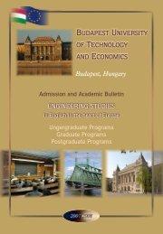 Academic Bulletin - International Degree Programs in Hungary