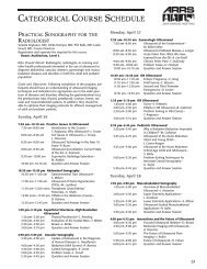 CategoriCal Course sChedule - American Roentgen Ray Society