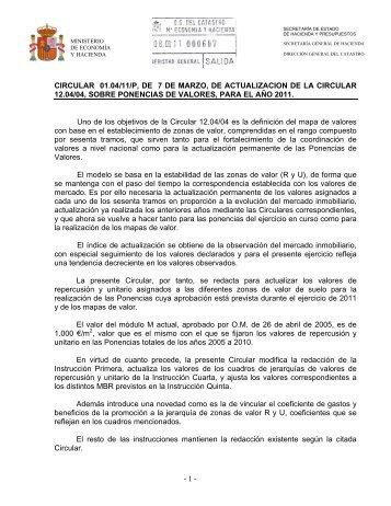 Ministerio de Economia y Hacienda - Catastro
