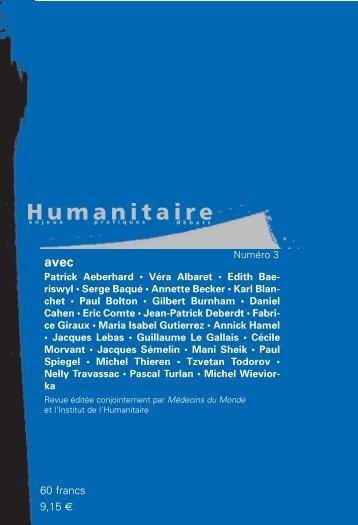 Revue Humanitaire n°3 - automne 2001 - Médecins du Monde