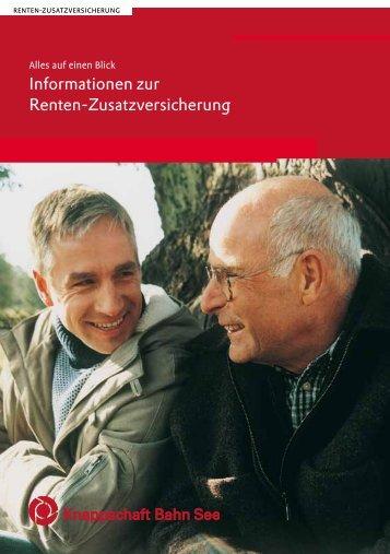 Informationen zur Renten-Zusatzversicherung - Knappschaft-Bahn ...