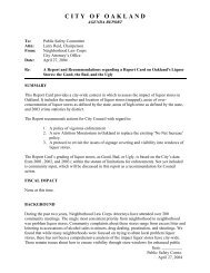 Report Card on Oakland's Liquor Stores - Oakland City Attorney