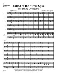 Ballad of the Silver Spur for String Orchestra - Lorenz