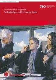 Selbständige und Existenzgründer - Knappschaft-Bahn-See