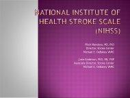 National Institute of Health Stroke Scale (NIHSS) - QUERI