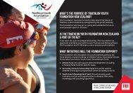 Youth Foundation Flyer - Triathlon New Zealand