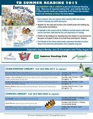 td summer reading 2012 - Winnipeg Public Library