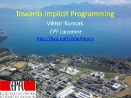 Int - Lab for Automated Reasoning and Analysis - LARA - EPFL