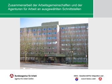 Zusammenarbeit der Arbeitsgemeinschaften und der Agenturen für ...