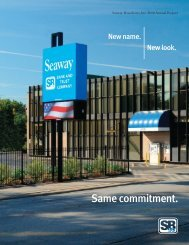 Same commitment. - Seaway Bank and Trust Company