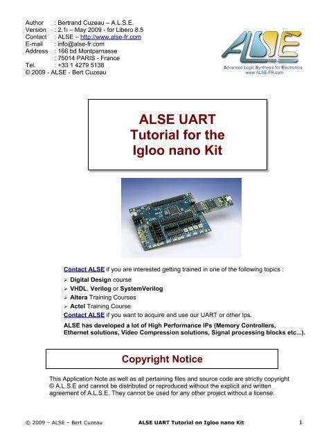 ALSE UART Igloo nano Starter Kit Tutorial