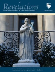 The Gift Planning Newsletter of The Catholic University of America