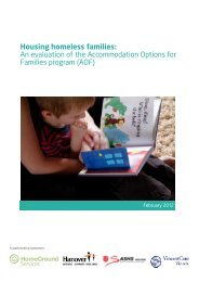 An evaluation of the Accommodation Options for Families program