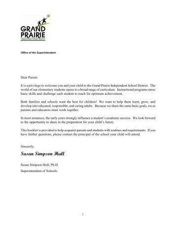 Dear Parent: - Grand Prairie Independent School District