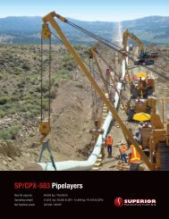 SP/CPX-583 Pipelayers - Worldwide Machinery