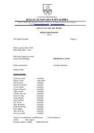 Domes sēdes Nr.5. protokols - Jelgavas rajona padome