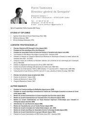 Pierre TAMBOURIN Directeur général de Genopole®