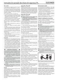 Instruções de operação das chaves de segurança TP... - EUCHNER ...