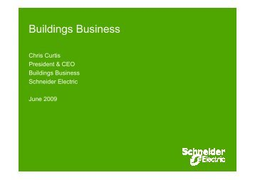 Buildings Business - Schneider Electric