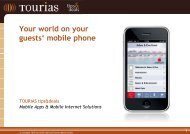 Your world on your guests' mobile phone