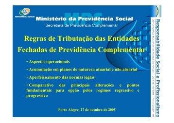 Palestra ABRAPP - Regras de Tributação das EFPC II