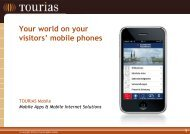 Your world on your visitors' mobile phones