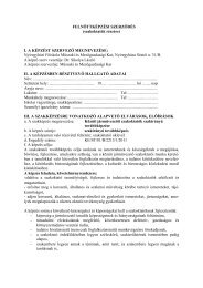 FELNŐTTKÉPZÉSI SZERZŐDÉS - Nyíregyházi Főiskola Műszaki és ...