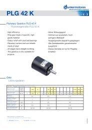 Planetary Gearbox PLG 42 K - Dunkermotoren