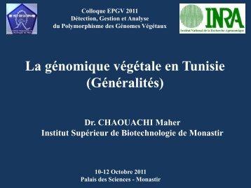 La génomique végétale en Tunisie (Généralités) - Inra