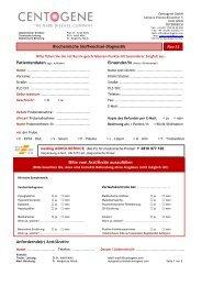 Anfordernde(r) Arzt/Ärztin: Biochemische ... - CENTOGENE
