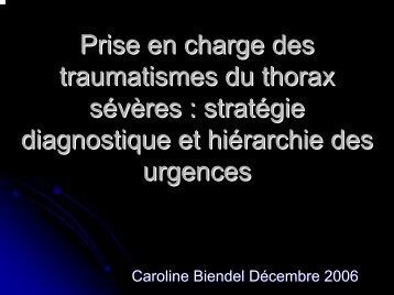 Prise en charge des traumatismes du thoraxe sévères