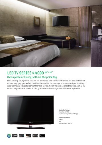 "LED TV SERIES 4 4000 26""/ 32"" - Hotel TV"