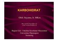 Ilmu Gizi - Karbohidrat - Suyatno, Ir., MKes - Undip