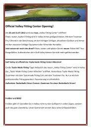 Neues Valley Fitting Center - Golf Valley GmbH