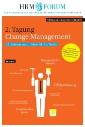 2. Tagung Change Management - HRM-Forum