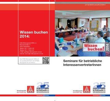 Wissen buchen - IG Metall Bonn-Rhein-Sieg