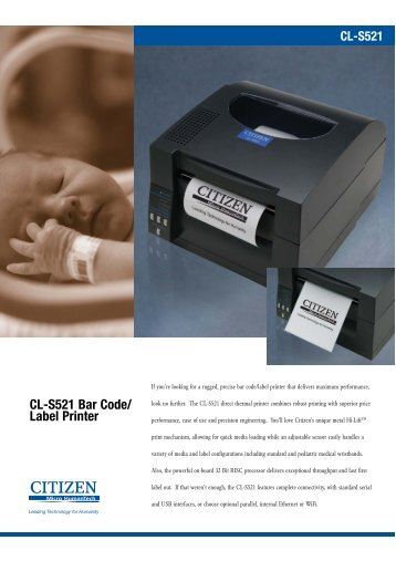 CL-S521 Bar Code/ Label Printer - Goodson Imports