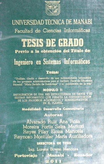 Tesis Alvarado Ruiz Ana Rosa.pdf - Repositorio UTM - Universidad ...
