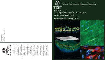 The Eye Institute 2011 Lectures and CME Activities - Medical ...